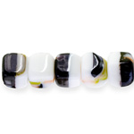 Cube-shaped glass beads, Preciosa (Czech), 11x10mm