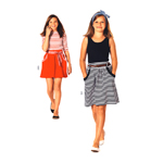 Kleit & seelik 116 - 152cm / Dress & Skirt/ Burda 9489