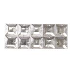 Ruudukujuline plastkristall 12mm 10tk