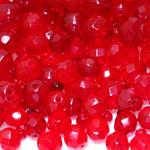 Pärlisegu punastest ümaratest  pärlitest 6-14mm, 100/50g pakk