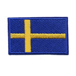 Embroidered Iron-On Patch; Swedish Flag / 6,5 x 4cm