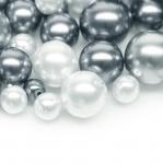Pärlisegu tumehallides toonides ümaratest pärlitest 4-12mm, 100/50g pakk