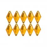 Rombikujulised õmmeldavad dekoratiivkivid 14x8mm, 10tk