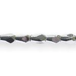 Tilgakujulised, tahulised metallilaadsed plastikhelmed 12x9mm