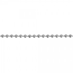 Metallkett, roostevabast terasest, kuulkett, lüli ø 3 mm