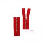 17cm-18cm Closed end Metal Zippers Opti, zip fasteners, member width: 4mm