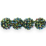 Plastikust, kristallidega pärl/vahedetail 14mm