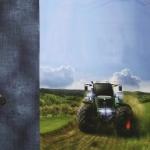 Traktoritega, trikookangas kupongina 70 cm x 150 cm, Stenzo, 16554