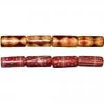 Piklikud puithelmed aafrikapäraste mustritega, pikuti auguga 12x6mm