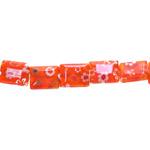 Kirjud mustrilised kandilised lapikud millefiori pärlid 10x8x4mm