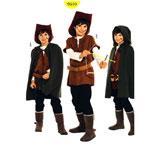 Robin Hood, Kasv 128-158cm / Robin / Burda 9510