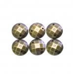 Metallilaadsed, tahulised plastikust dekoratiivkivid 14mm, 6tk pakis