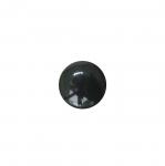 Must, sileda pinnaga, läikiv, kannaga plastiknööp 13mm/21L
