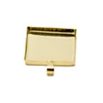 Ruudukujuline medaljonitaoline riputis aasaga / Square Pendant Base / 26mm