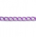 Decorative metal chain (aluminum) 18 x 11 x 3 mm