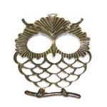 Suur öökulli ripats / Owl Pendant / 65 x 50mm