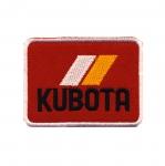 Triigitav Aplikatsioon, `Kubota` logo / Embroidered Iron-On Patch / 7x5,5cm