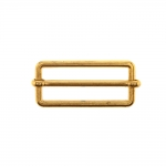 Metal triglide buckle, fashion buckle 47x23 mm for belt width 40 mm