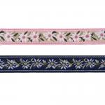 Romantiliste lilleõitega dekoratiivpael Art.9451150 /EM / laiusega 25mm / jacquard / kukkanauha / koristenauha