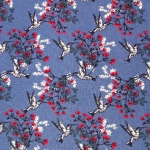 Koolibride ja lilledega, veniv, puuvillane kangas, Megan Blue Fabrics 007254, 150cm/220g