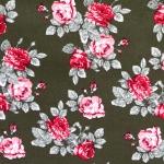 Roosimustriga puuvillane kangas, 145cm 129.803