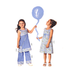 Kleit & püksid, Kasv 98-128 cm / Dress & pants / Burda 9740