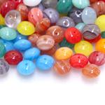 Pärlisegu kirjudes toonides, lapikutest pärlitest 5x9mm, 100/50g pakk