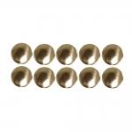 Metallist, triigitavad ümarad kaunistuskivid 8mm, 10tk pakis