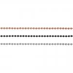 Metallkett, roostevabast terasest, kuulkett, lüli ø 1,5 mm