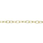 Metallkett kullatud/hõbetatud 3,4mm lai, 2m pikk