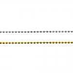 Металлитческая шаровая цепь, шарик ø 2,4 мм
