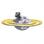 Planeet, tikitud triigitav piltaplikatsioon 10,5x4,5cm