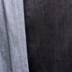 Ühevärviline, veniv teksariie, puuvillasegu kangas 164cm, 035-12045