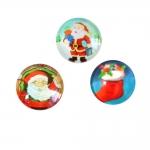 Jõuluteemalised, klaasist, liimitavad, lamedapõhjalised, aukudeta, ümarad klaashelmed 15 x 6mm