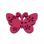 Erivärvilised filigraansed puitdetailid / Wooden Butterfly Pendant / 30 x 22mm