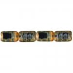 Ristkülikukujuline, kirju, pärlmutter 16x10x5mm klaashelmes