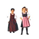 Rahvariided 104 - 140cm / Robe folklore/ Burda 9509