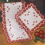 Jõululinik sakilise serva ja punaste südametega Art.3513