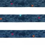 Triibu- ja südamemustriga (Fly Stripe) veniv puuvillasegu kangas, 150cm, 8729