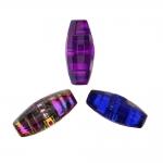 Õmmeldav ovaalne, tahuline, kannaga plastikkristall/nööp 18x9mm