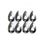 Metallilaadsed, tahulised plastikust dekoratiivkivid 17x10mm, 8tk pakis