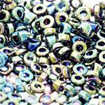 Pärlisegu Mustadest AB-kattega pärlitest 6-7mm, 100/50g pakk