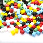 Erivärviliste toruhelmeste segu suuruses 4-4,5 mm, Preciosa