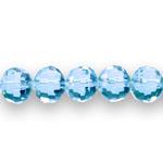 Ümarad tahulised läbipaistvad klaashelmed 10mm