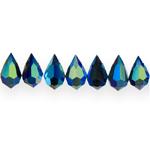 Tilgakujulised tahulised klaaskristallid 10x6mm