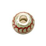 Mustrilised, värvilised, keraamilised metallsisuga pandora tüüpi helmed 15x12mm