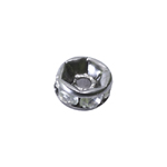 Disk Jewellery Spacer with Rhinestones / 5 x 3mm