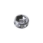 Vahedetail klaaskristallidega erinevate ehete valmistamiseks / Disk Jewellery Spacer with Rhinestones / 5 x 3mm