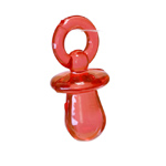 Plastic Pacifier Charm / 31 x 14mm
