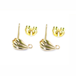 Metal Earring Billet and Back / 15 x 7 x 5mm